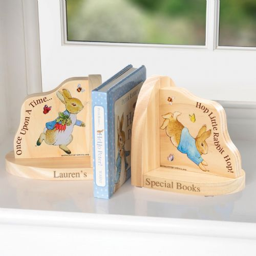 Personlised Peter Rabbit Book Ends